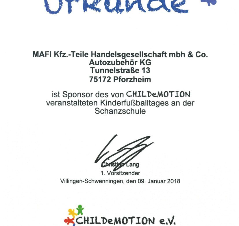 mafi sponsor childemotion